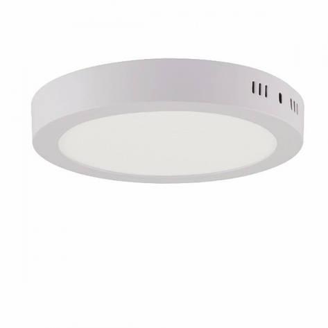 Накладной светодиодный светильник круг 18W 3000К, фото 2