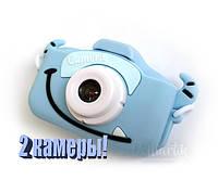 40М Детский цифровой фотоаппарат Children`s fun с фронтальной камерой Голубой Пират