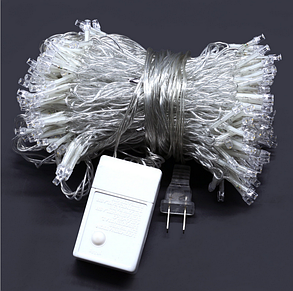 Декоративная гирлянда штора 3*3 метра 300 led 220v холодный белый, фото 2