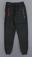{есть:134,140,146} Спортивные брюки с начесом для мальчиков Landl,  Артикул: LP8903-т.серый [134]