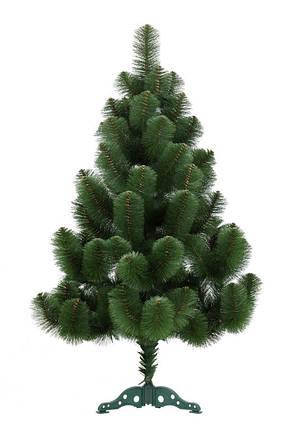 Новогодняя искусственная сосна 140 см. зеленая не распушенная, фото 2