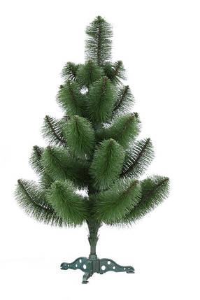 Новогодняя искусственная сосна 90 см. зеленая не распушенная, фото 2