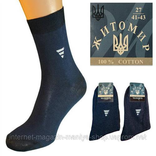 Носки мужские синие с рисунком Житомир