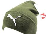 Теплая шапка колпак с подворотом, фото 4