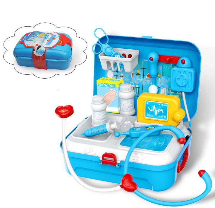 Портативный рюкзак Doctor toy (игровой набор 17 предметов)