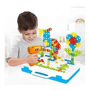 Мозаика конструктор с шуруповертом TU LE Hui Puzzle Peg 224 детали