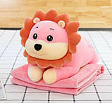 Плед детский + игрушка лев и подушка 3в1 оптом, фото 2