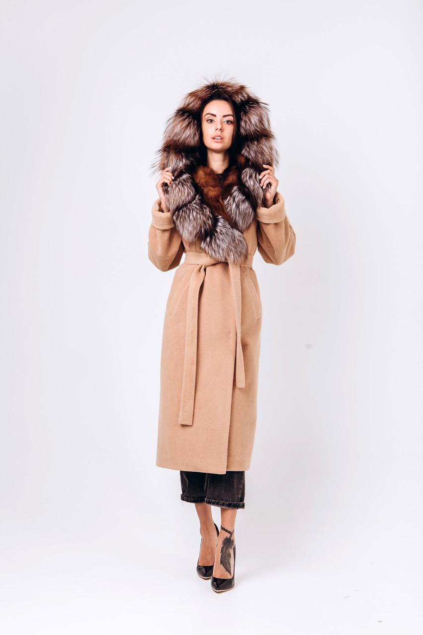 Длинное зимнее пальто с капюшоном O.Z.Z.E Д 337
