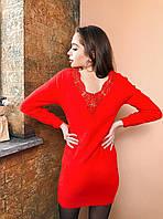 Короткое платье туника с кружевом на спине, фото 1