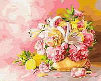 Картина рисование по номерам Букет с лилиями BRM28783 40х50 см Цветы, букеты, натюрморты набор для росписи, фото 1