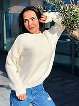 Стильный теплый женский свитер шерсть, фото 2