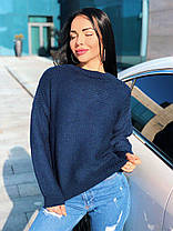 Стильный теплый женский свитер шерсть, фото 3