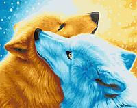Картина рисование по номерам День и Ночь BRM21927 40х50 см Животные суши, обитатели моря набор для росписи, фото 1