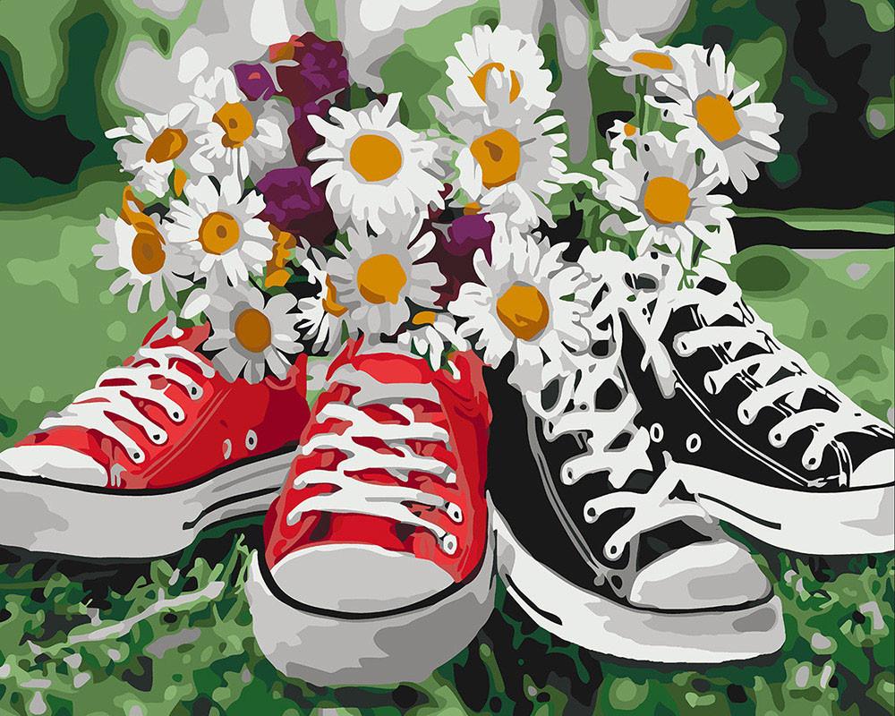 Картина рисование по номерам Идейка Необычное сочетание KHO3073 40х50 см Цветы, букеты, натюрморты набор для