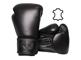 Боксерські рукавиці PowerPlay 3014 Чорні [натуральна шкіра] 12 унцій