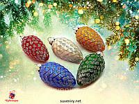 Елочные украшения новогодняя шишка