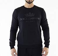 Мужской свитшот худи толстовка с начесом D&G черная