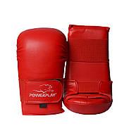 Рукавички для карате PowerPlay 3027 Червоні M, фото 1