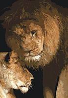 Картина рисование по номерам Идейка Сила любви KH2489 35х50 см Животные суши, обитатели моря набор для росписи