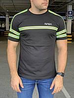 Мужская футболка тенниска Alpha Industries Nasa Logo Reflective Black