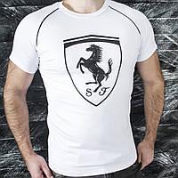 Мужская футболка тенниска Puma белая отличное качество пошива