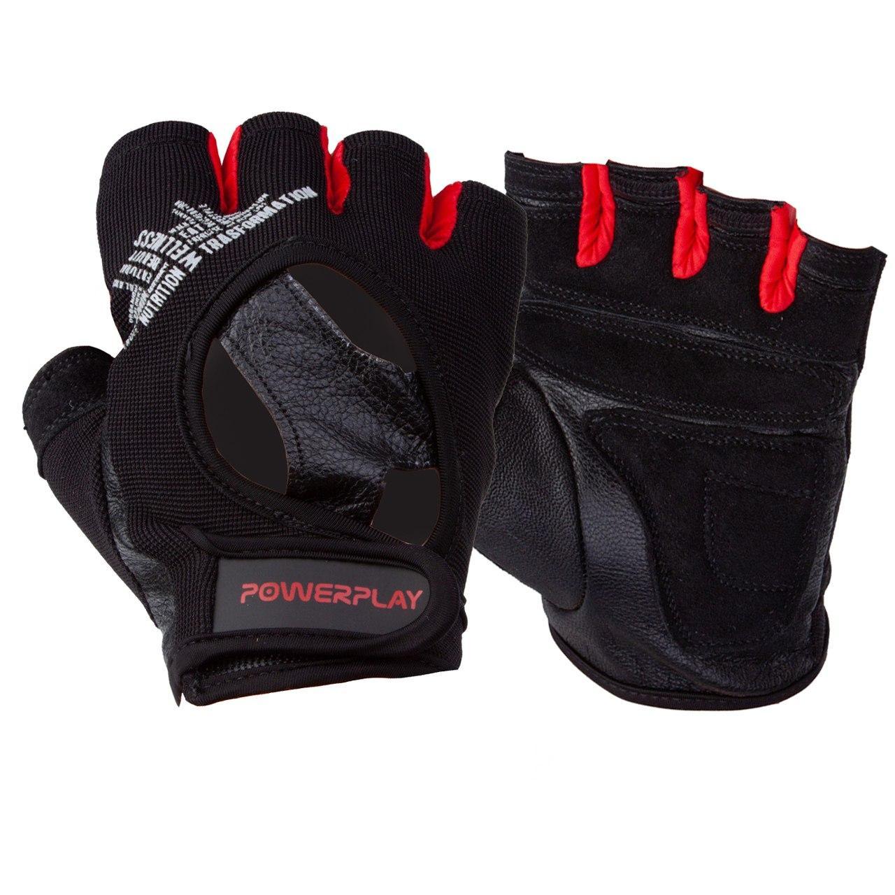 Рукавички для фітнесу PowerPlay 2222 Чорні M