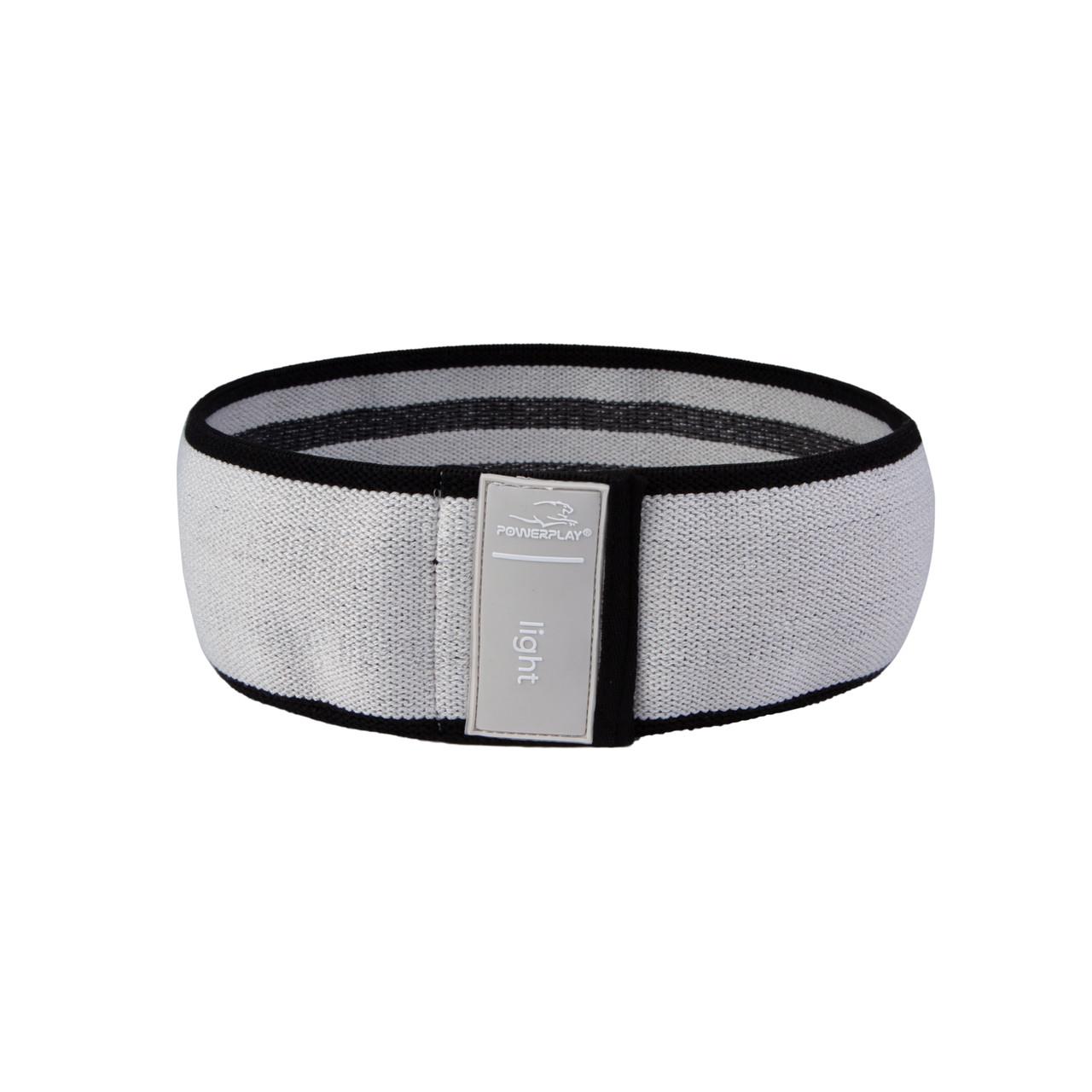 Резинка для фітнеса тканева PowerPlay 4111 S  Сірий (d_64cm)