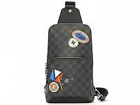 Спортивная сумка рюкзак Louis Vuitton Avenue Damier Graphite Stickers