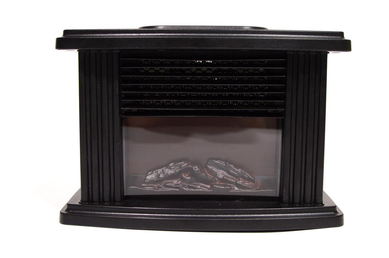 Портативний обігрівач Flame Heater (Флайм Хитрий) камін, керамічний 1000 Ватт з пультом 16x11x9 cm