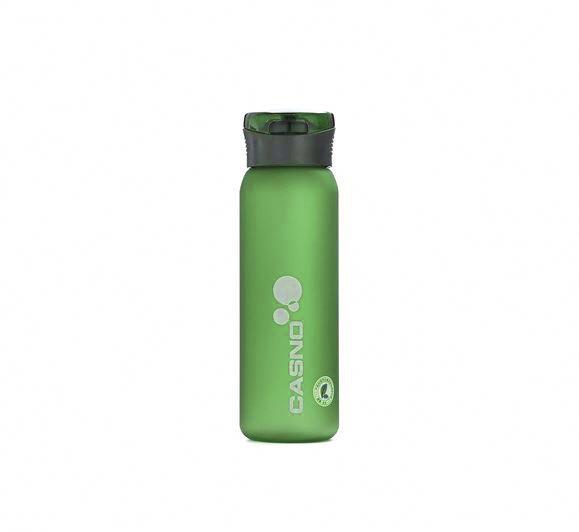 Пляшка для води CASNO 600 мл KXN-1196 Зелена з соломинкою