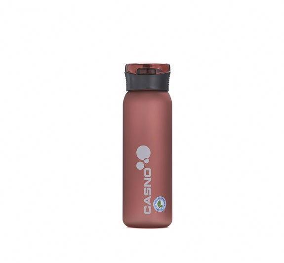 Пляшка для води CASNO 600 мл KXN-1196 Червона з соломинкою