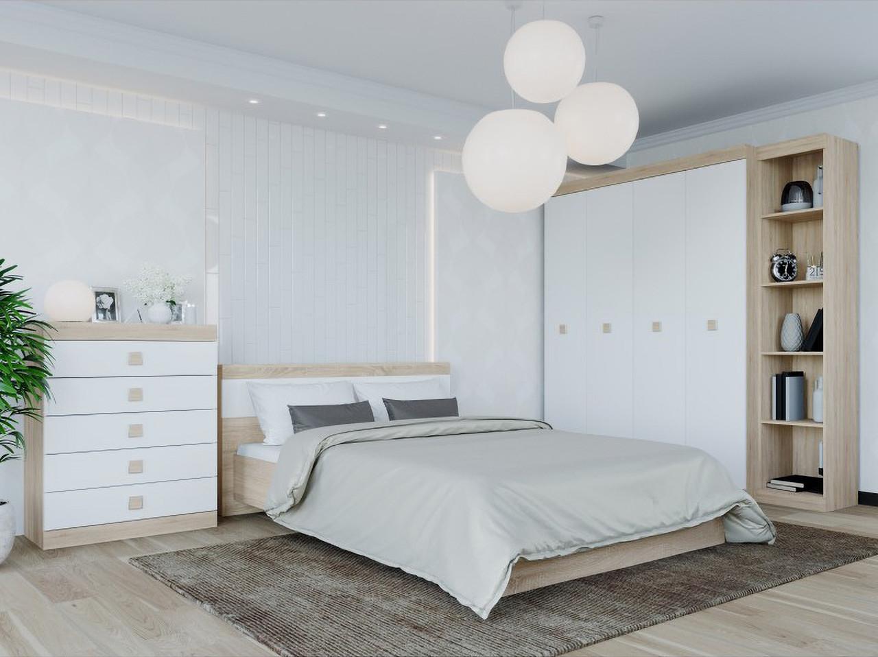 Спальня комплект 3 ЭВЕРЕСТ Дуб сонома + Белый