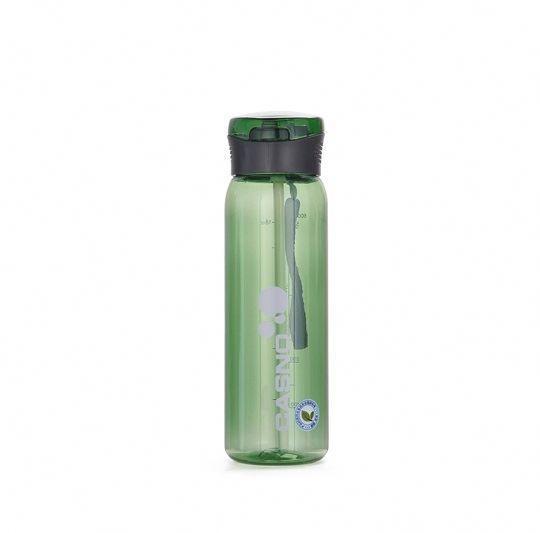 Пляшка для води CASNO 600 мл KXN-1211 Зелена з соломинкою