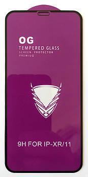 Защитное стекло для Apple iPhone XR / iPhone 11 полная проклейка OG Tempered Glass Full Glue