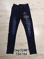 Лосини з імітацією джинси утеплені для дівчаток Seagull, 134-164 рр. Артикул: CSQ52481, фото 1