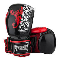 Боксерські рукавиці PowerPlay 3007 Чорні карбон 12 унцій, фото 1