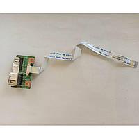 Плата USB роз'єми, для ноутбука Medion Akoya MD96630, 48.4W605.011, б/в, без пошкоджень