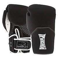 Боксерські рукавиці PowerPlay 3011 Чорно-Білі карбон 10 унцій, фото 1