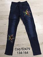 Лосины с имитацией джинсы утепленные для девочек Seagull, 134-164 рр. Артикул: CSQ52479, фото 1