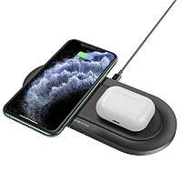 Беспроводная зарядка для iPhone и Air Pods на два устройства 2х10W