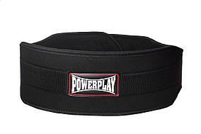 Пояс для важкої атлетики PowerPlay 5535 Чорний (Неопрен) XL