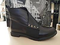 Модные ботинки женские кожаные на низком каблуке осень весна повседневные удобные 37 размер M.KraFVT 1006 2021