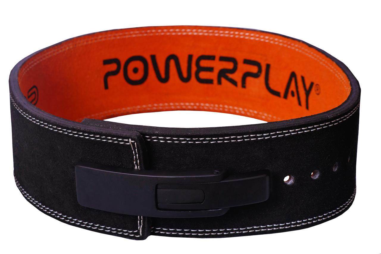 Пояс для важкої атлетики PowerPlay 5175 Чорно-Оранжевий M