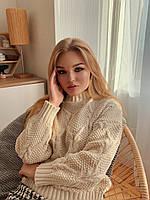 Женский светлый свитер Оверсайз, фото 1