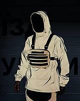 Мужская куртка анорак ветровка Пушка Огонь Dex с микрофлисом рефлективная