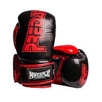 Боксерські рукавиці PowerPlay 3017 Чорні карбон 14 унцій, фото 1