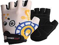 Велорукавички PowerPlay 001 D Білі 2XS, фото 1