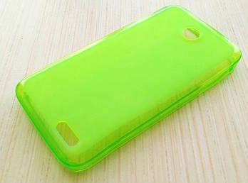 Чехол для Lenovo A398t силиконовый однотонный зеленый матовый