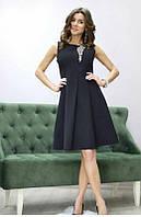 Черное нарядное платье сарафан с камнями размер С, фото 1