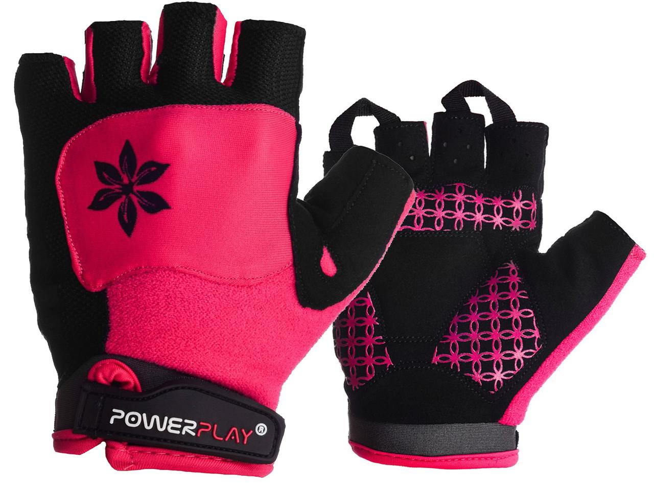 Велорукавички PowerPlay 5284 C Рожеві M